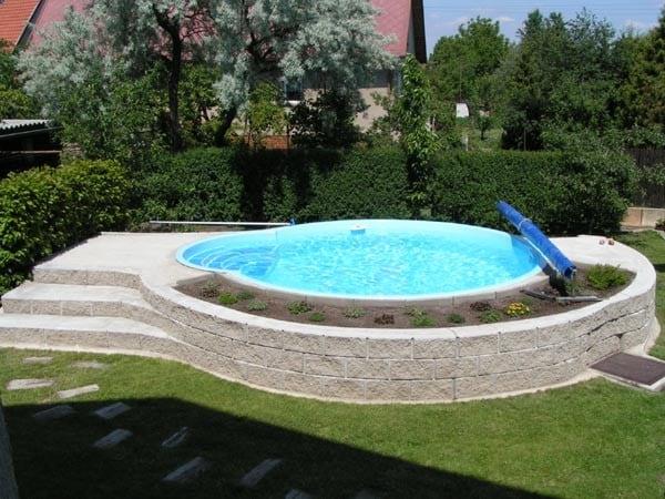 Kulatý laminátový bazén