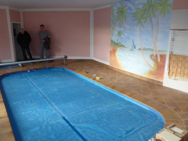Solární bublinková fólie – ukázka zakrytí bazénu