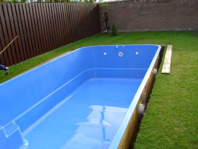 snadná instalace bazénu