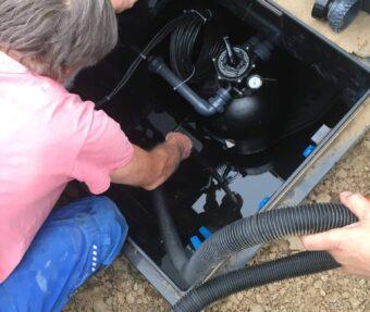 Vysávání šachty